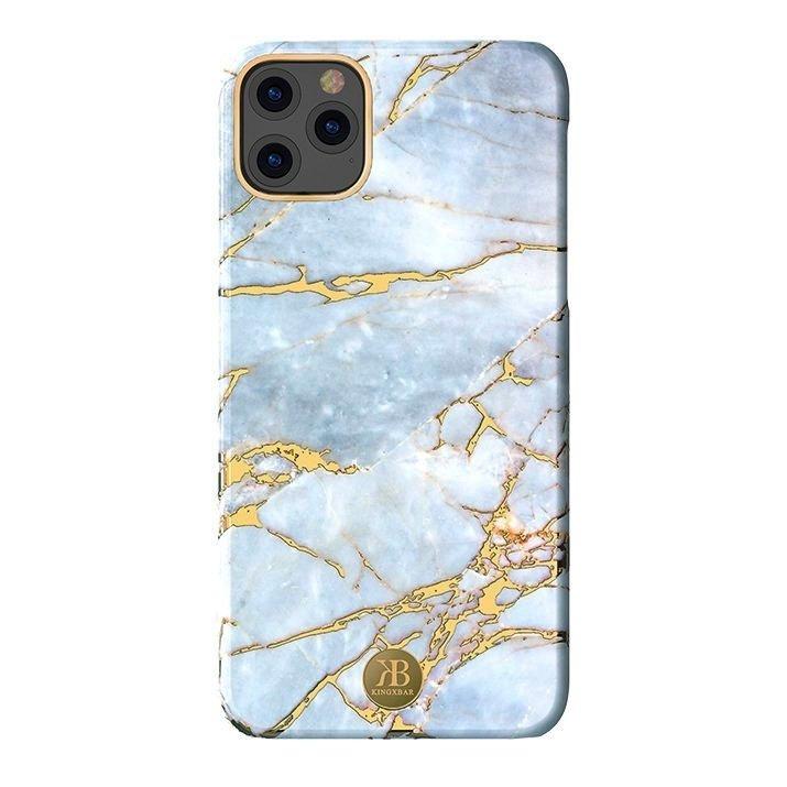 Kingxbar Marble Series silikonové pouzdro marble pro iPhone 11 Pro Max white