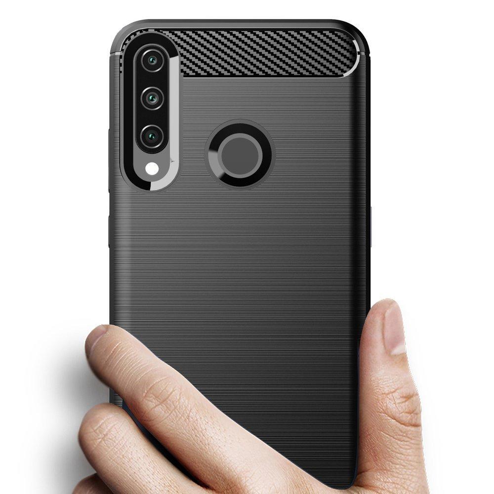 Carbon silikonové pouzdro na Huawei Y6p black