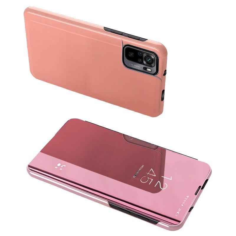 Knížkové pouzdro naXiaomi Redmi NOTE 10 / Redmi NOTE 10S s průhlednou přední stranou pink