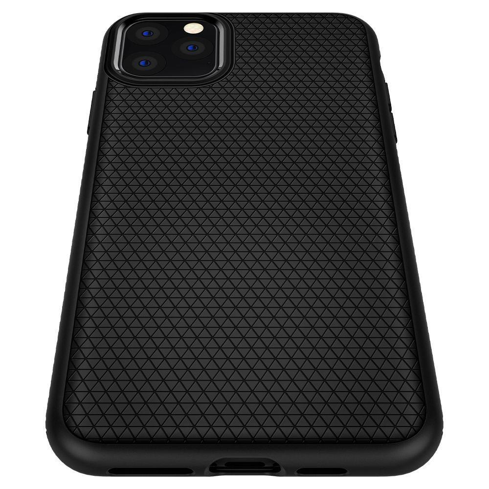 Spigen Liquid Air silikonové pouzdro na iPhone 11 Pro Max Matte Black