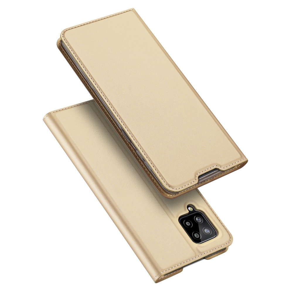 DUX DUCIS Skin knížkové pouzdro na Samsung Galaxy A42 5G golden