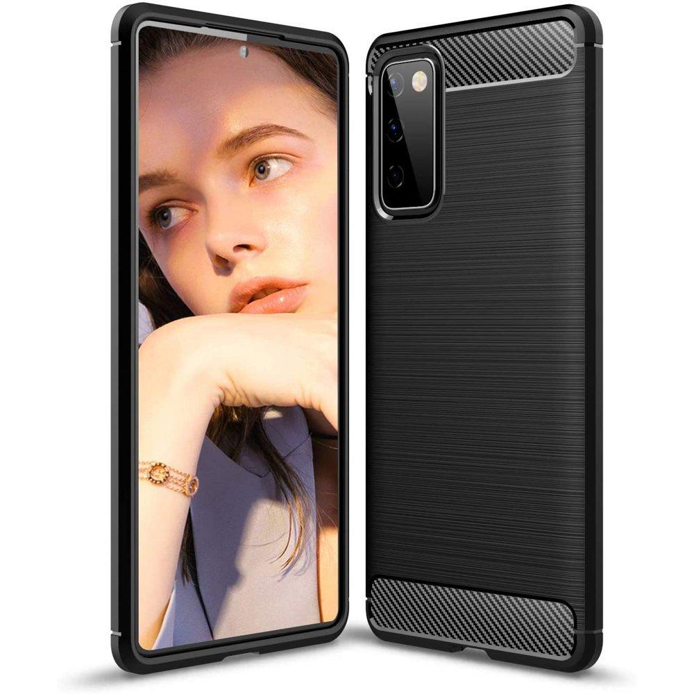 Carbon silikónové puzdro na Samsung Galaxy S20 FE black