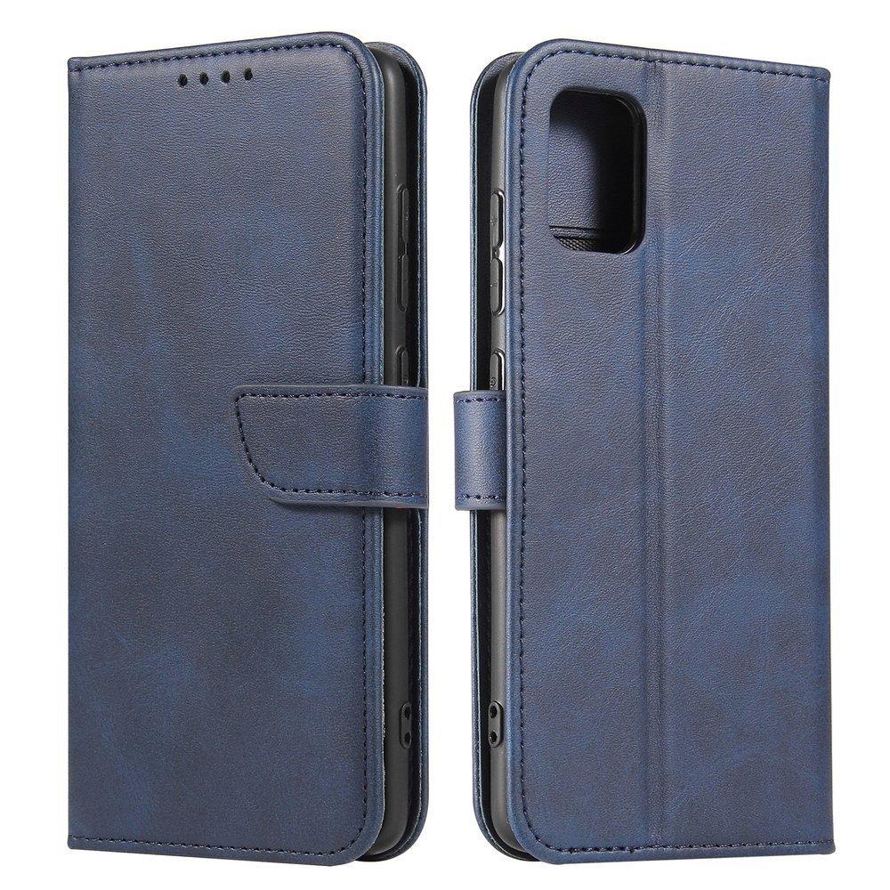 Kožené flipové pouzdro Magnet Case pro  Samsung Galaxy A51 , modrá 9111201921511