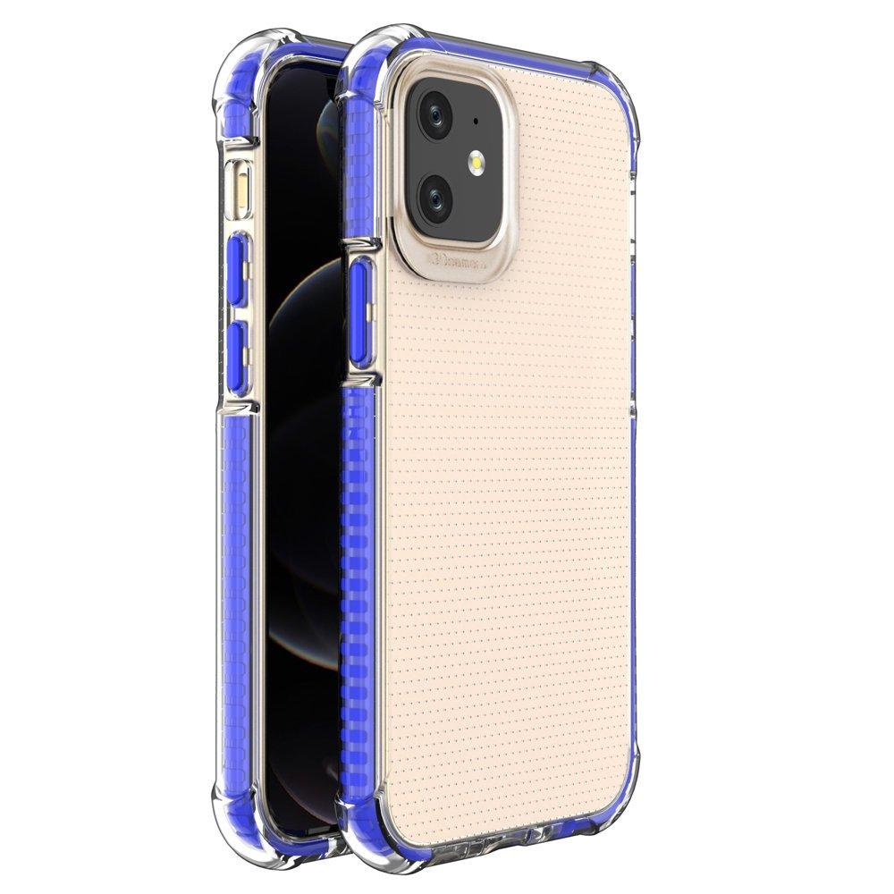 """Spring Armor silikonové pouzdro s barevným lemem na iPhone 12 Mini 5,4"""" blue"""