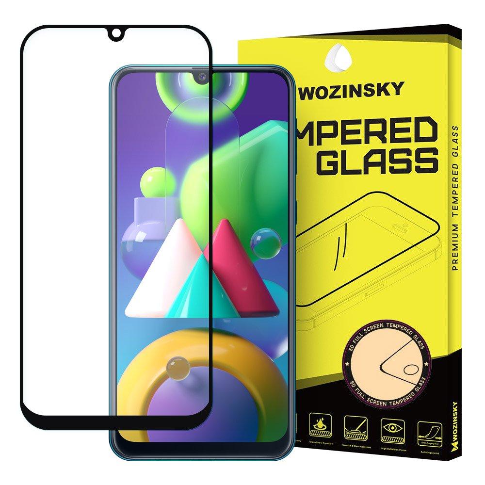 Wozinsky Celoplošně lepené temperované tvrzené sklo 9H na Samsung Galaxy M21 black