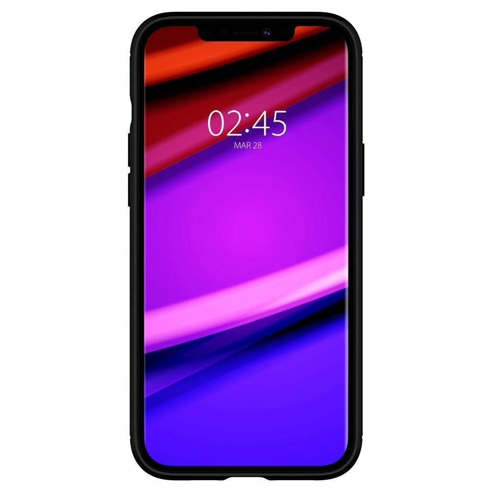 Spigen Rugged Armor silikonové pouzdro na iPhone 12 / 12 Pro Matte Black