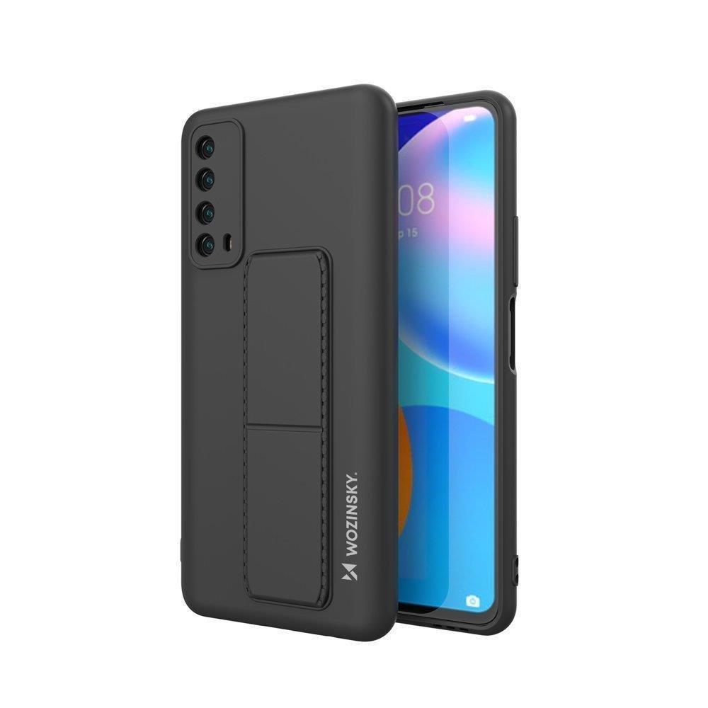 Wozinsky Flexibilné silikónové puzdro so stojanom naHuawei P Smart 2021 black