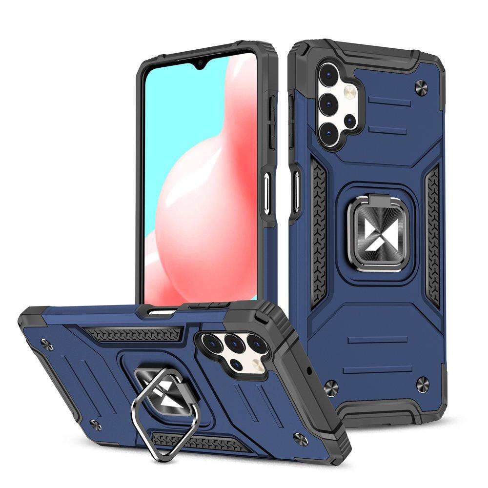 Wozinsky Hybrid pancierové púzdro s krúžkom pre Samsung Galaxy A32 4G blue