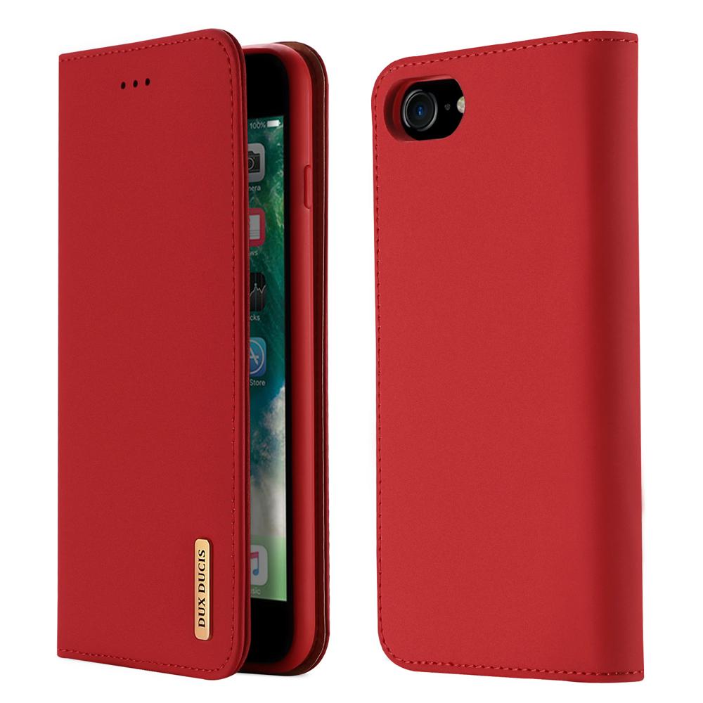 DUX DUCIS Wish kožené pouzdro pro iPhone 8 / 7 red