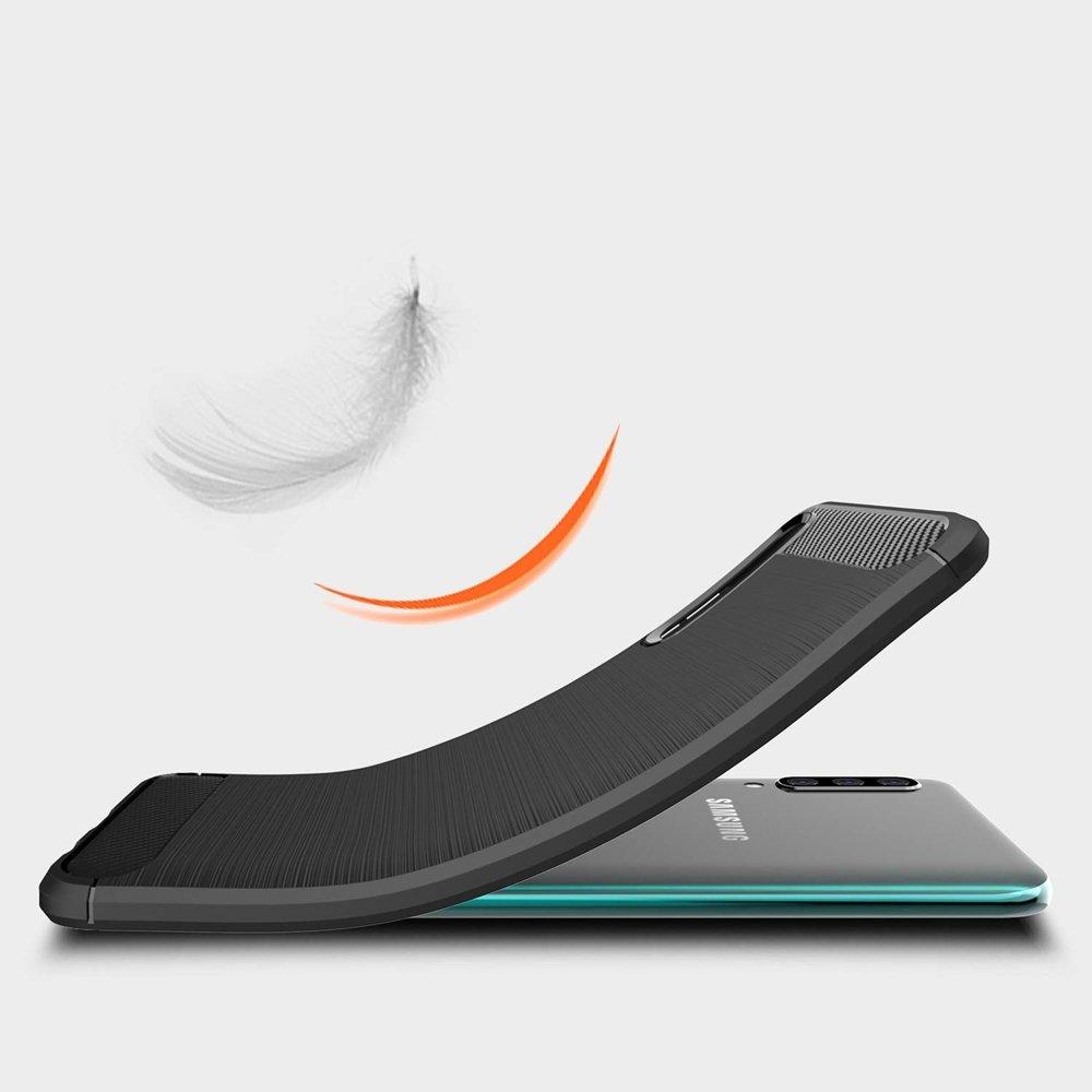 Silikonové pouzdro Carbon Samsung Galaxy A50 black