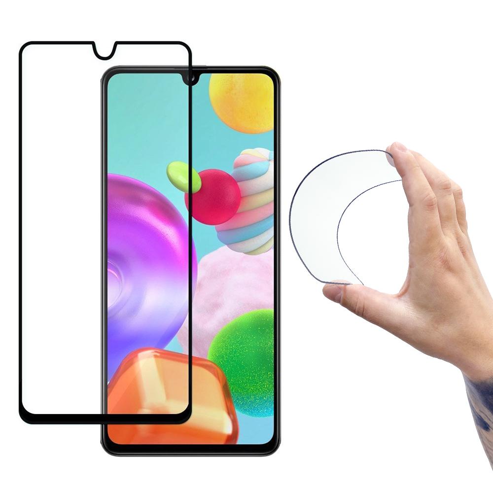 Celoplošné Flexi Nano Hybrid tvrzené sklo 9H na Samsung Galaxy A41 black
