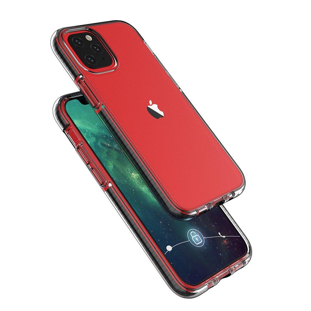 Spring silikonové pouzdro s barevným lemem na iPhone 12 / 12 Pro light pink