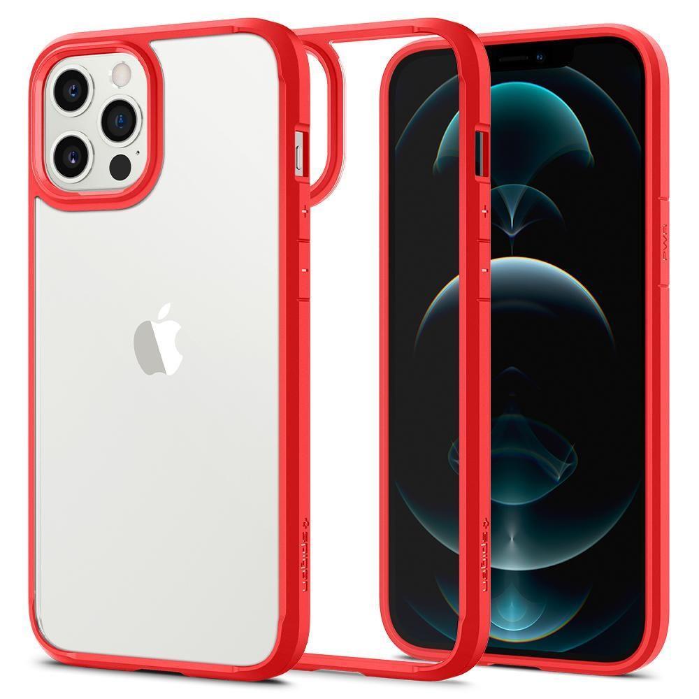 """Spigen Ultra Hybrid pouzdro na iPhone 12 / 12 Pro 6.1"""" Red"""
