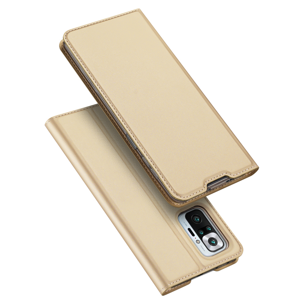 Flipové pouzdro Dux Ducis skin Xiaomi Redmi Note 10 Pro ,zlatá