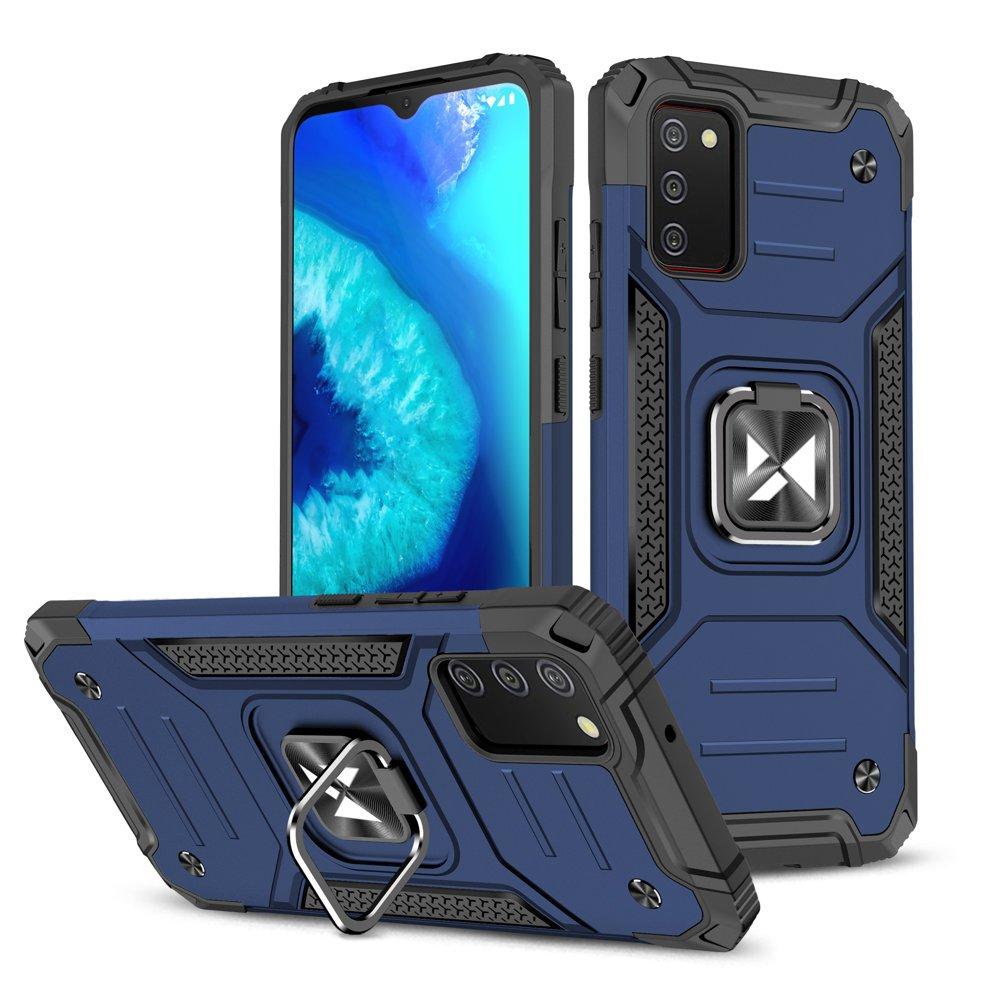 Wozinsky Hybrid pancierové púzdro s krúžkom pre Samsung Galaxy A02s blue
