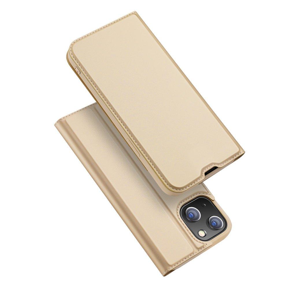 "DUX DUCIS Skin knížkové pouzdro na iPhone 13 6.1"" gold"