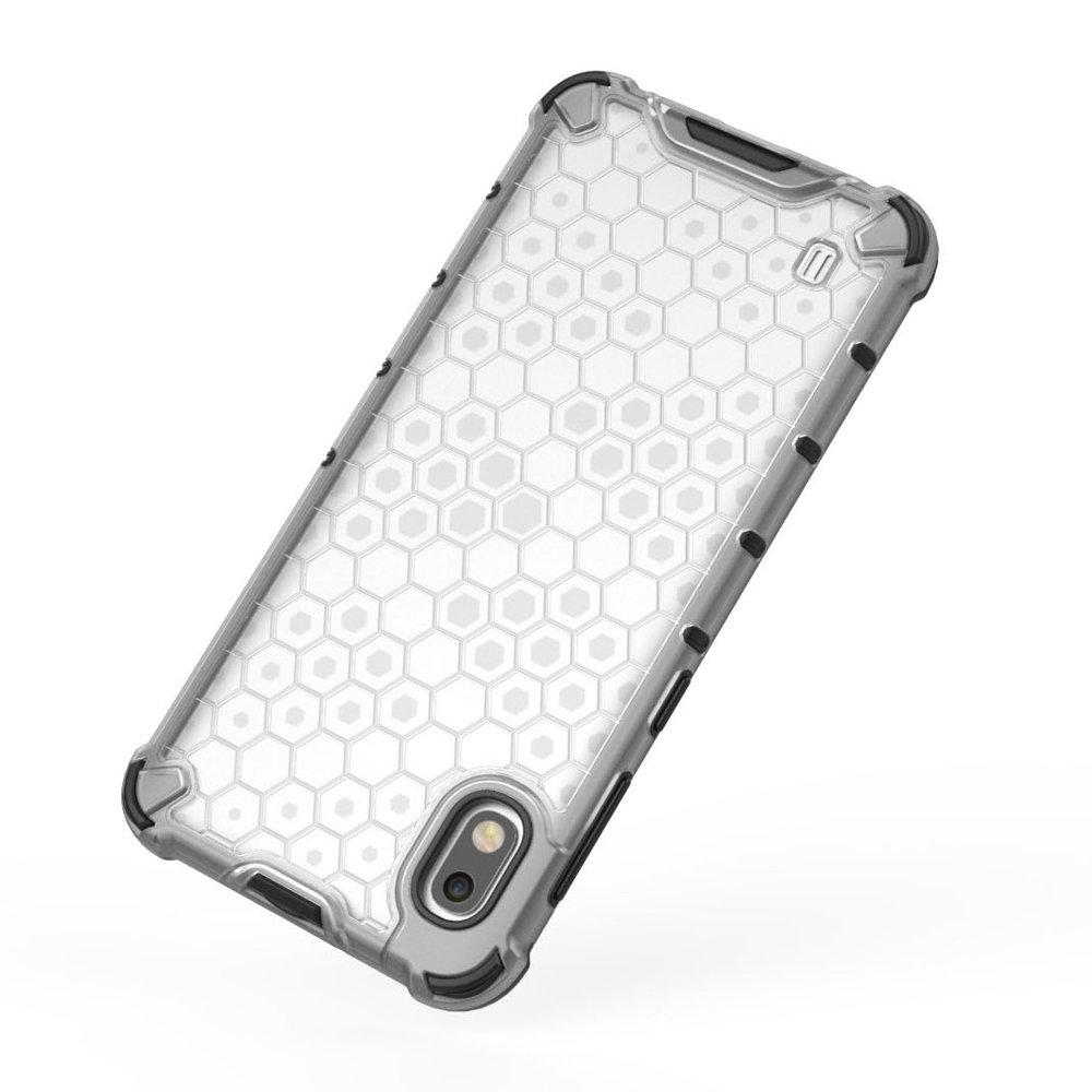 Honeycomb pancéřové pouzdro se silikonovým rámem pro Samsung Galaxy A10 green