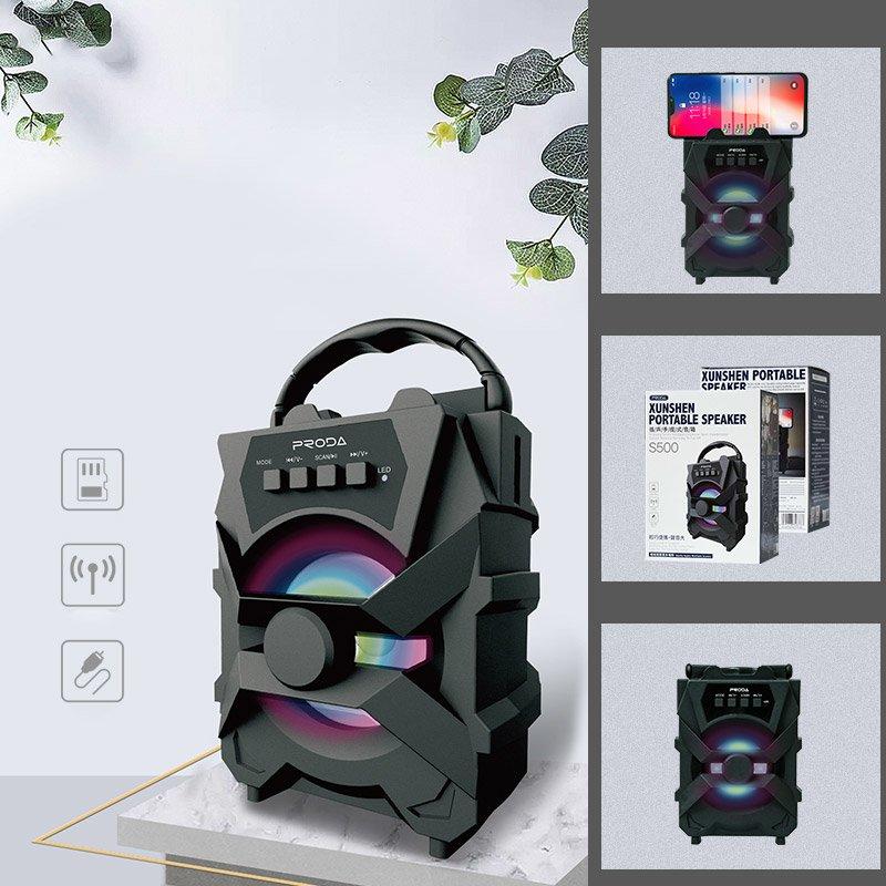 Proda Xunshen přenosný reproduktor Bluetooth black (PD-S500 black)