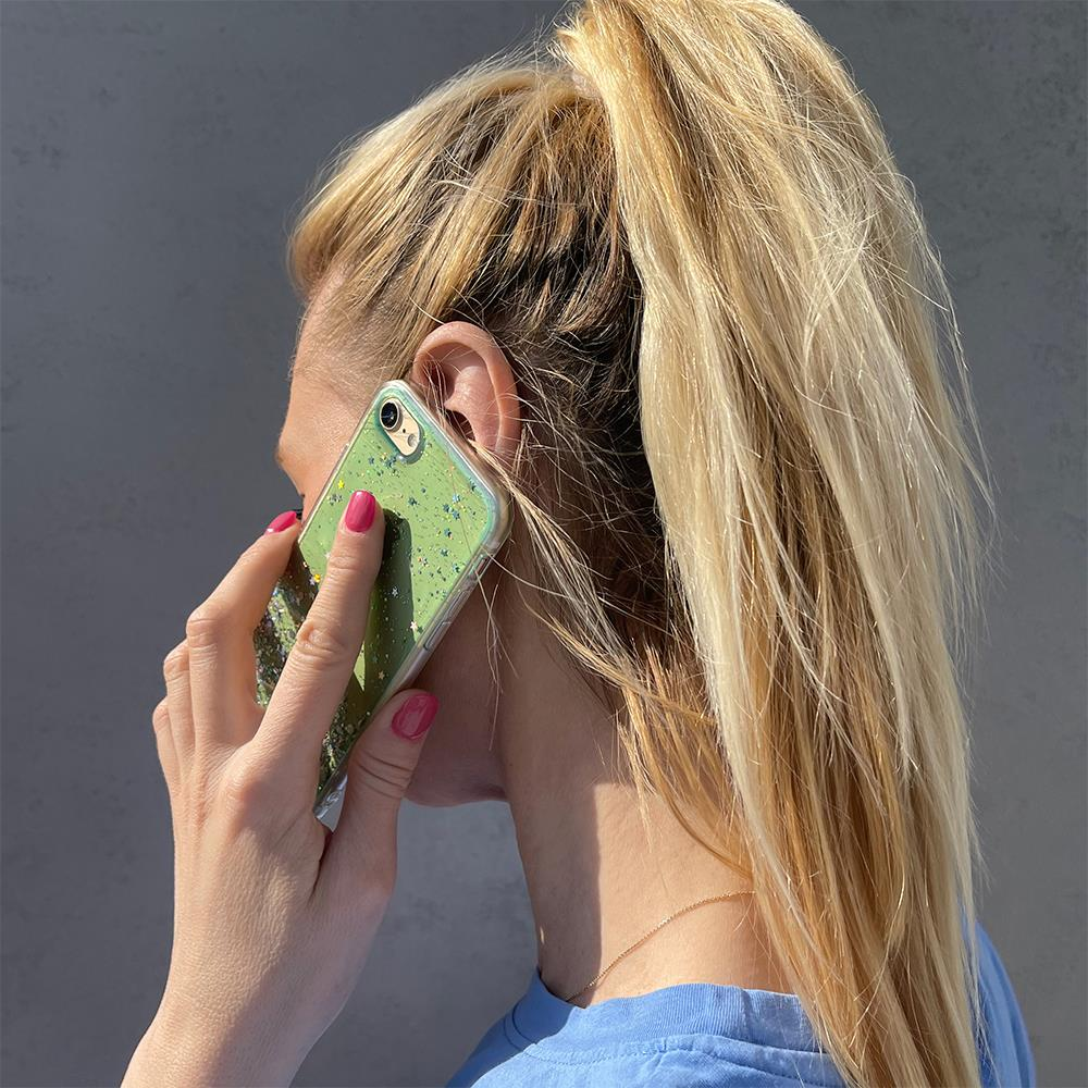 Wozinsky Star Glitter silikonové pouzdro na iPhone 11 Pro green