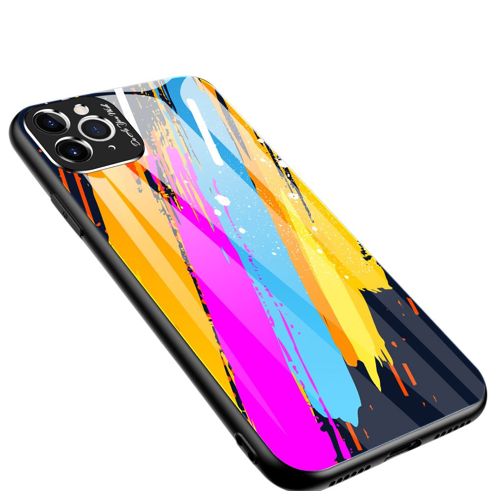 Color Glass kryt z tvrzeného skla 9H + ochrana fotoaparátu na iPhone 11 Pro Max pattern 3