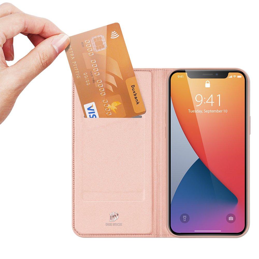 DUX DUCIS Skin knížkové pouzdro na iPhone 12 / 12 Pro pink