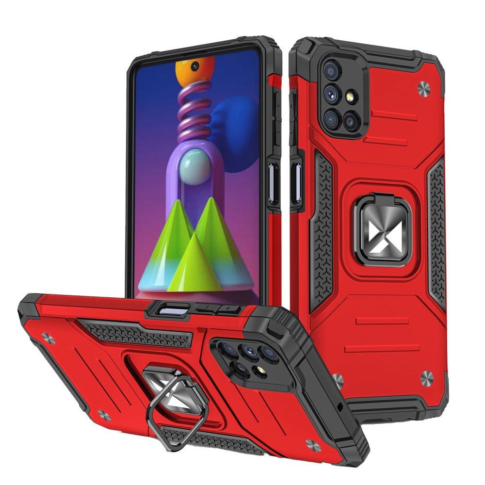 Wozinsky Hybrid pancéřové pouzdro s kroužkem na Samsung Galaxy M51 red