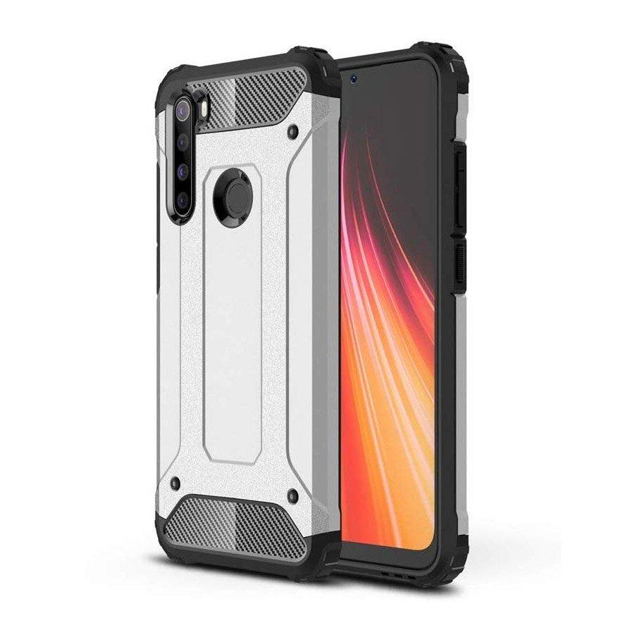 Hybrid pancierové polykarbonátové púzdro pre Samsung Galaxy A11 / Galaxy M11 silver