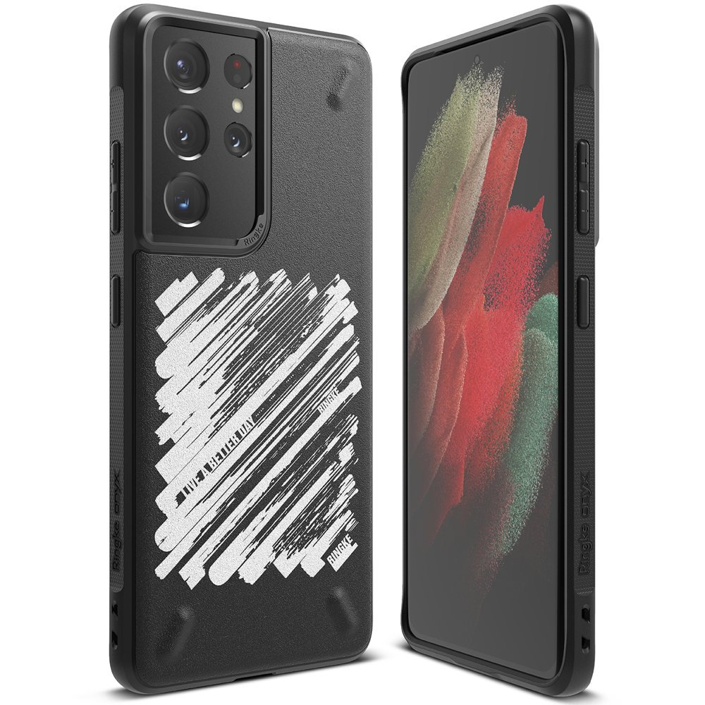 Ringke Onyx Design silikonové pouzdro na Samsung Galaxy S21 ULTRA 5G Paint