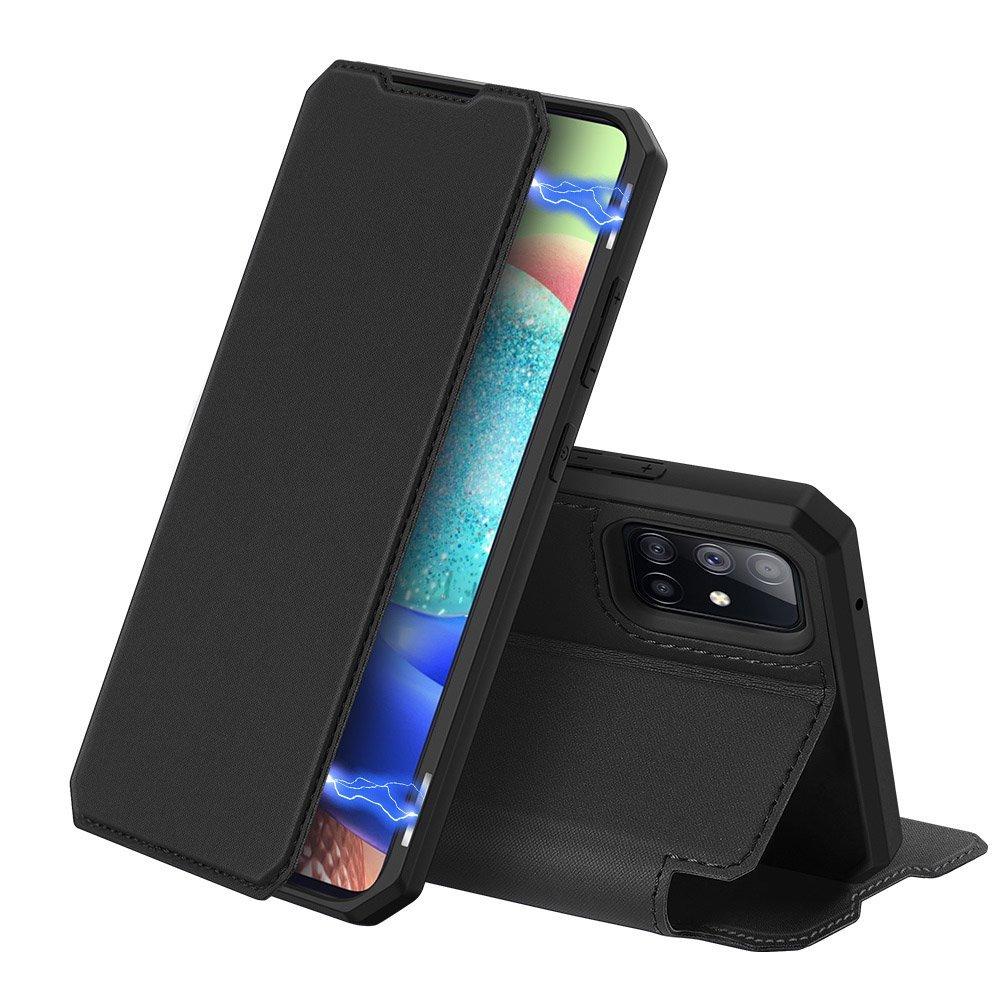[PO ZWROCIE] Flipové pouzdro Dux Ducis skin na Samsung Galaxy A71 5G , černá