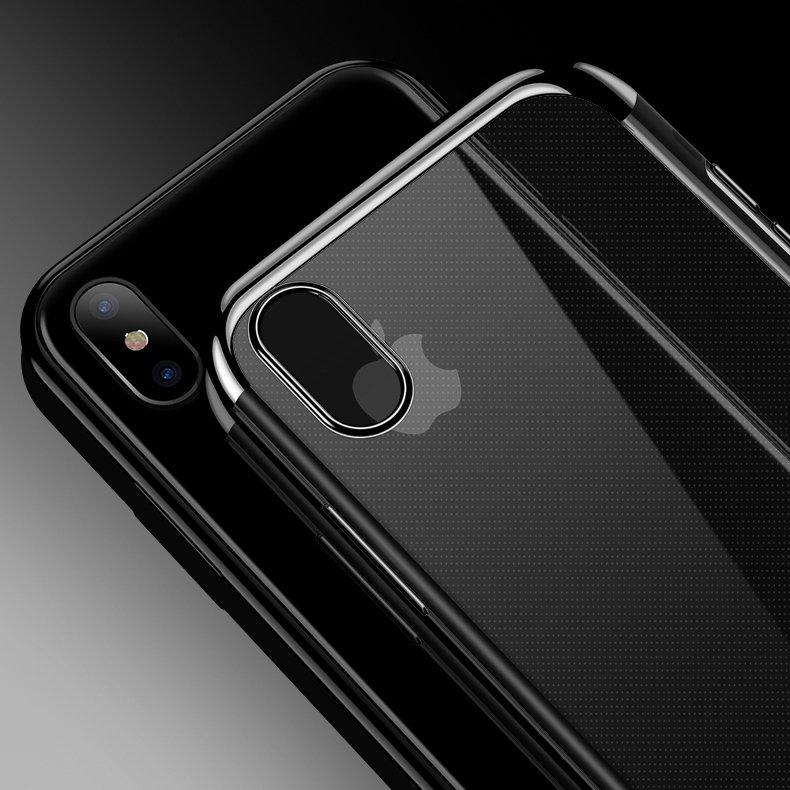 Color Electroplating silikonové pouzdro Huawei P30 Lite black