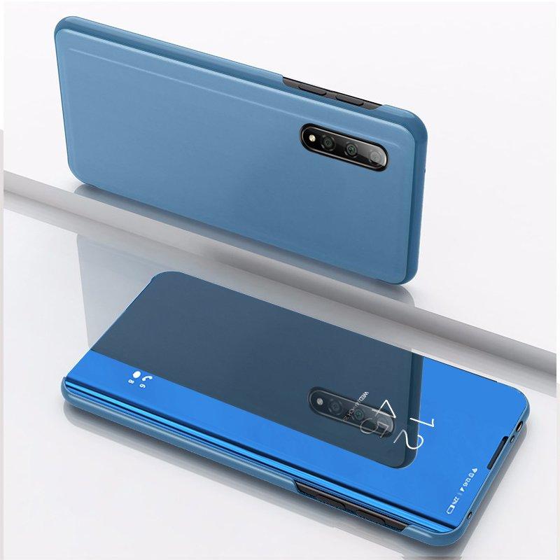 Knížkové pouzdro pro Xiaomi Mi CC9e / Xiaomi Mi A3 blue s průhlednou přední stranou