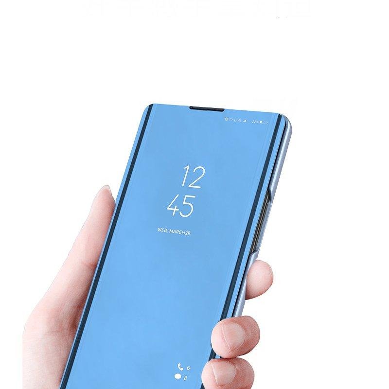 Knižkove púzdro pre Xiaomi Mi CC9e / Mi A3 blue s priehľadnou prednou stranou