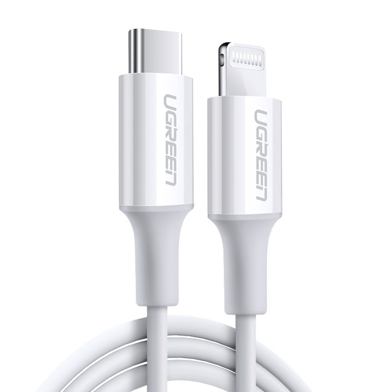 UGREEN USB-C kable / Lightning kabel 1m White