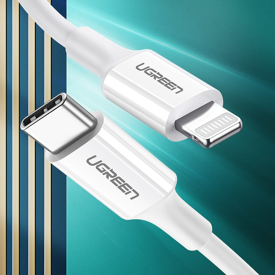 UGREEN USB-C kable / Lightning kabel 1m White