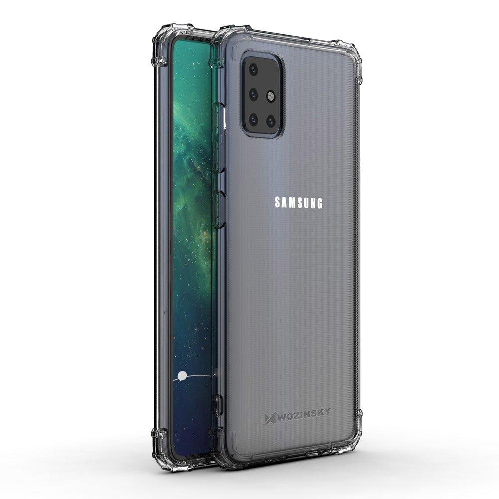 Wozinsky Anti Shock silikonové púzdro MIL-STD-810G 516.6 pre Samsung Galaxy A51transparent