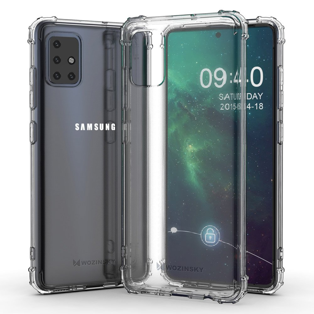 Wozinsky Anti Shock silikonové pouzdro MIL-STD-810G 516.6 na Samsung Galaxy A51 transparent