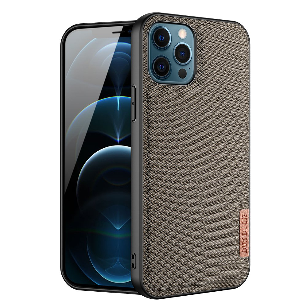 Luxusní pouzdro Dux Ducis Fino Nylon ,  iPhone 12 Pro Max , zelená 6934913055748