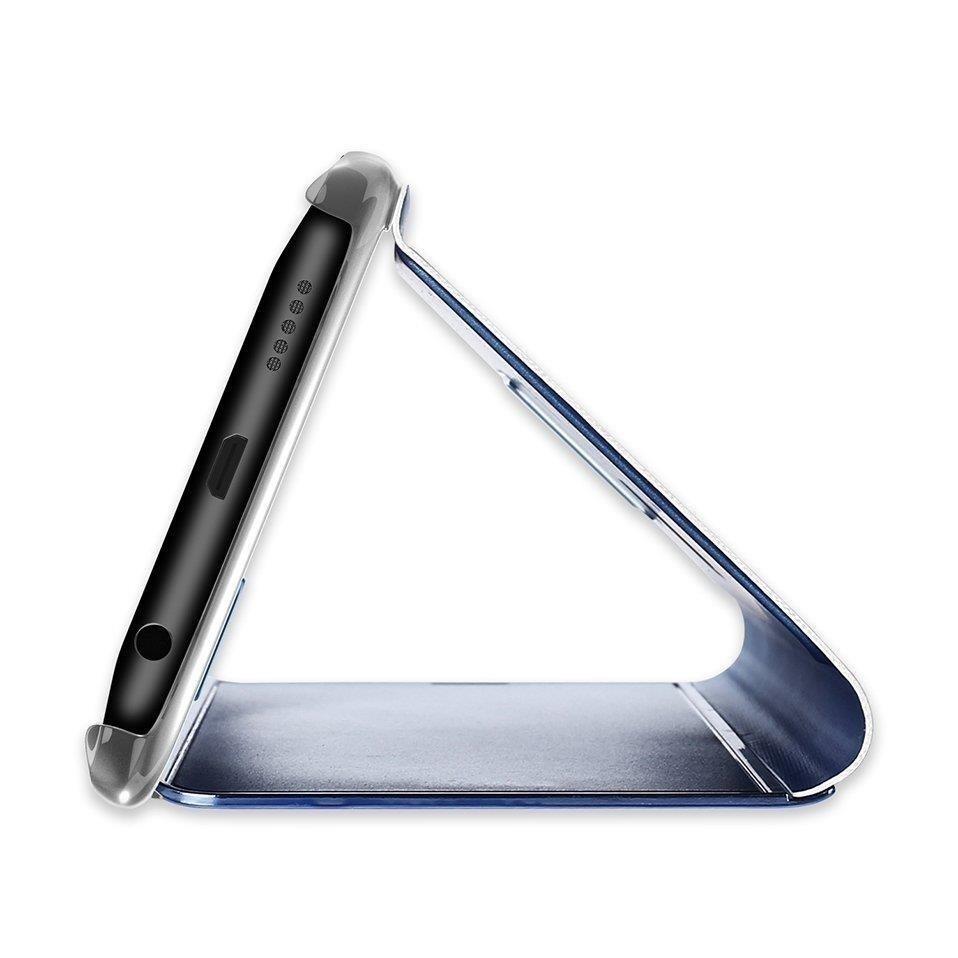 Knížkové pouzdro Huawei Y6 2019 silver s průhlednou přední stranou