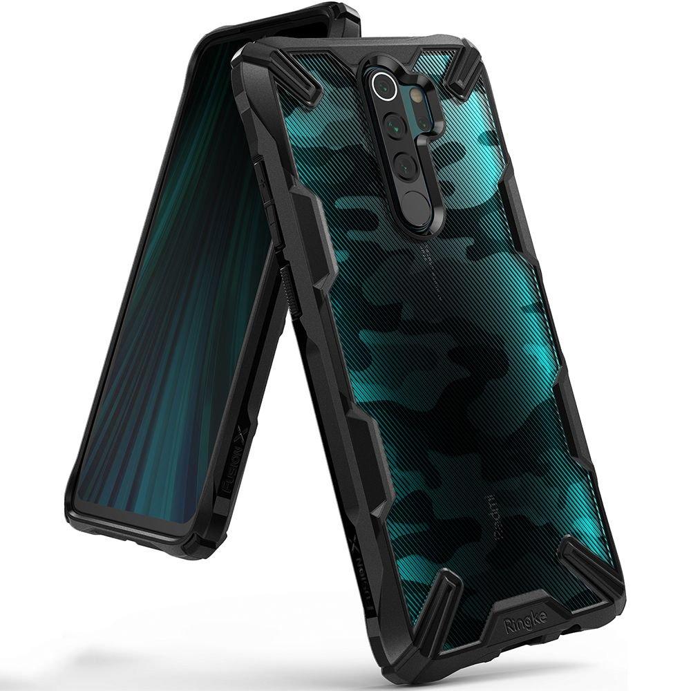 Ringke Fusion X Design pancierové puzdro preXiaomi Redmi Note 8 Pro Camo black