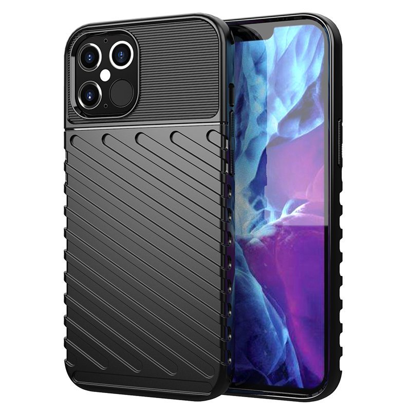 Thunder silikonové pouzdro na iPhone 12 / 12 Pro black