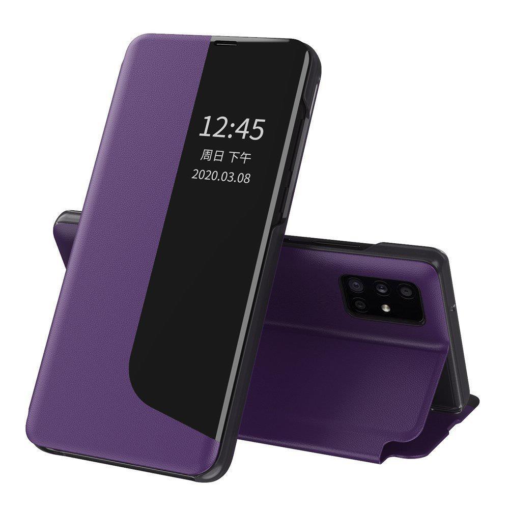 Knížkové puzdro s imitáciou kože pre Huawei P40 Lite E purple