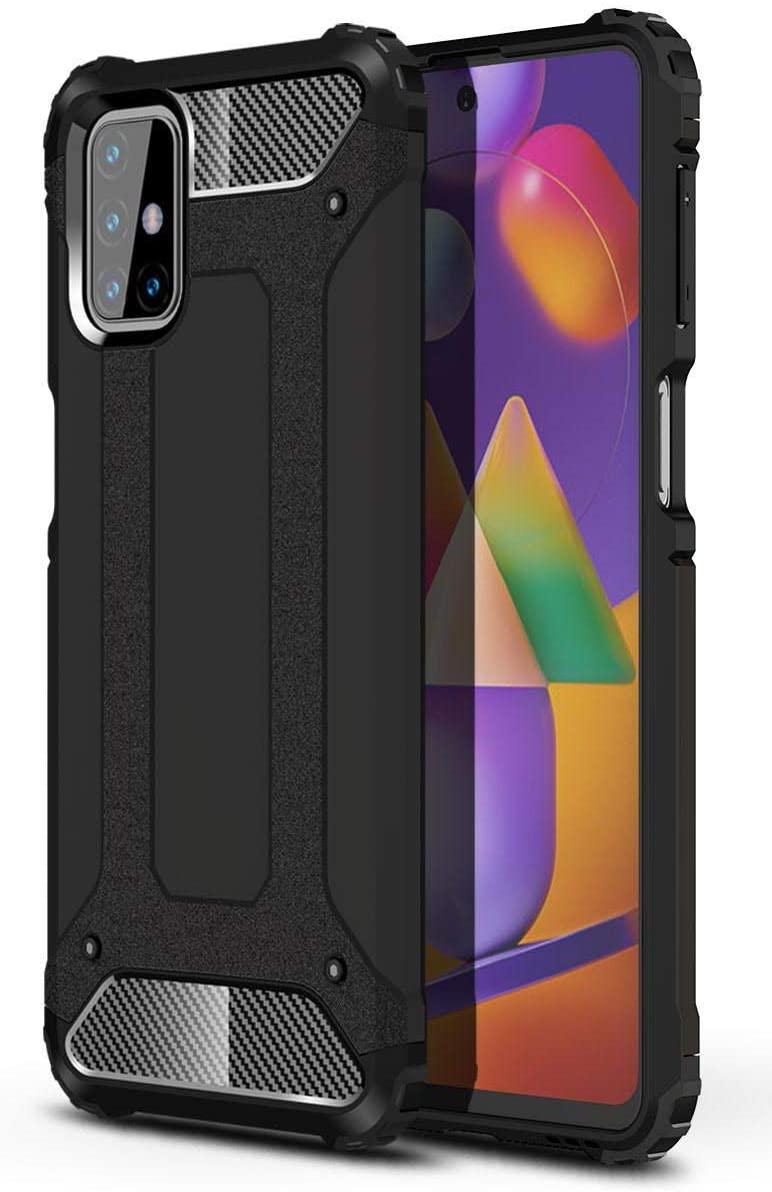 Hybrid pancéřové polykarbonátové pouzdro na Samsung Galaxy M31s black