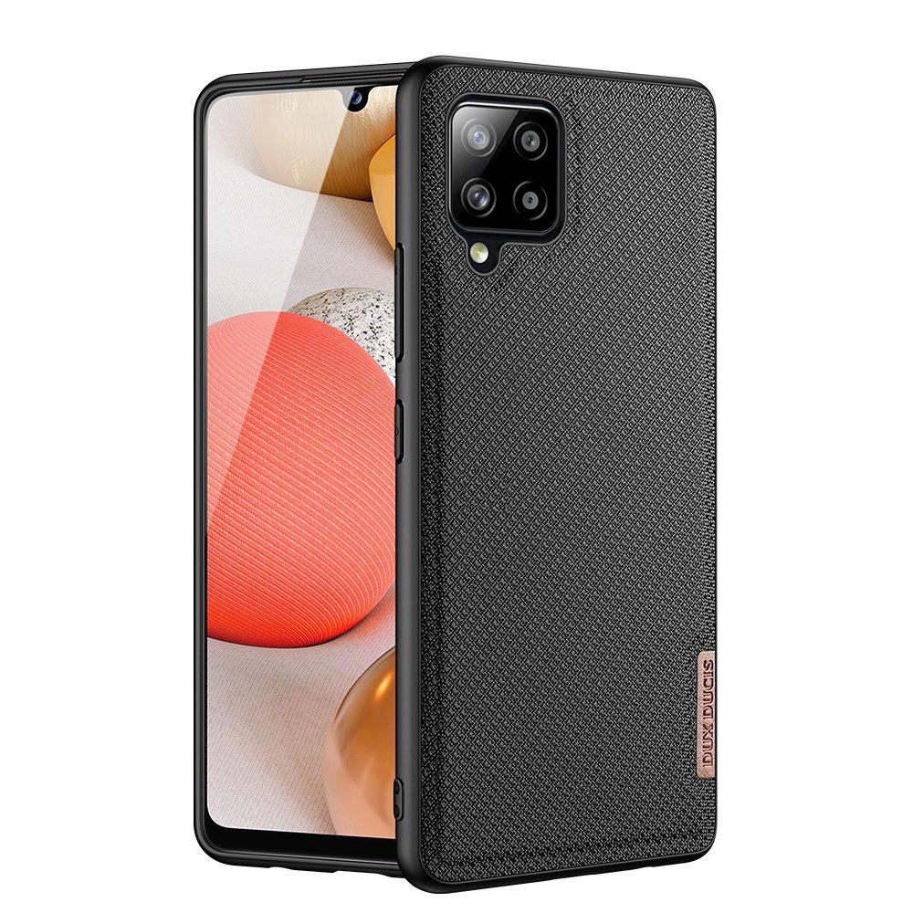 Luxusní pouzdro Dux Ducis Fino Nylon ,  Samsung Galaxy A42 5G , černá 6934913055908