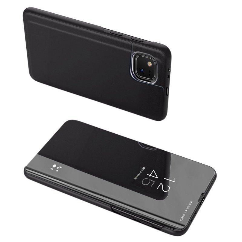 Knížkové pouzdro na Xiaomi Mi 11 Lite 4G/5G s průhlednou přední stranou black