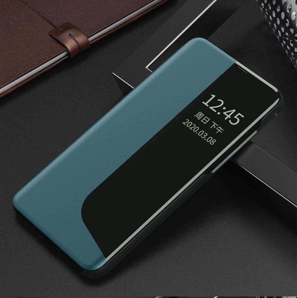 Knížkové pouzdro s imitací kůže na Huawei Y6p / Honor 9A green