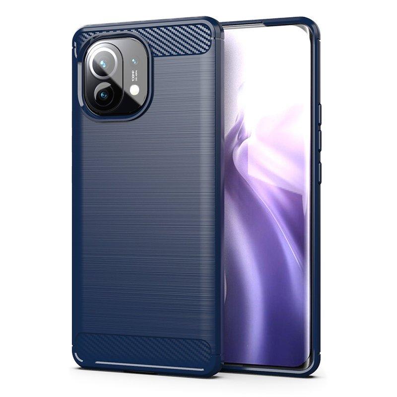 Karbonový kryt na mobil Xiaomi Mi 11 , modrá 9111201930056
