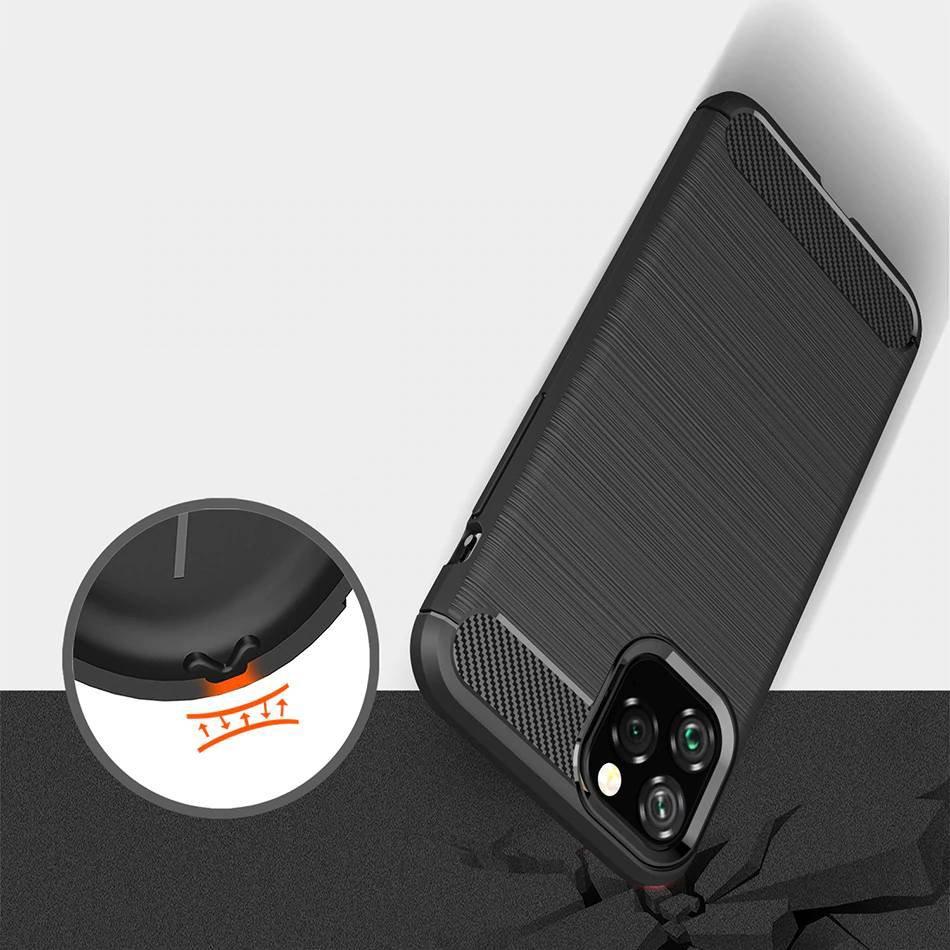 Carbon silikonové pouzdro na iPhone 11 black