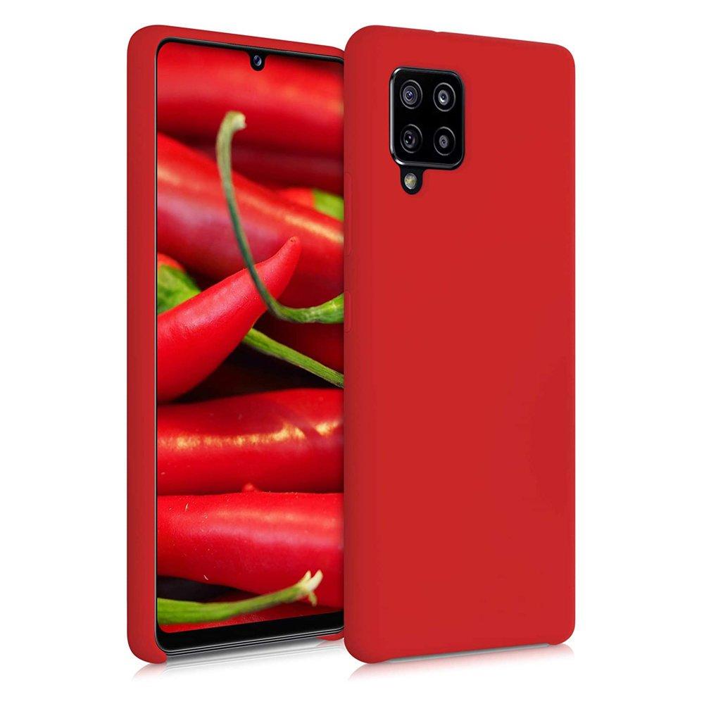 Silikonové pouzdro LUX na Samsung Galaxy A42 5G red