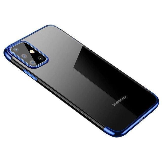 Color Electroplating silikonové pouzdro naSamsung Galaxy A32 4G blue