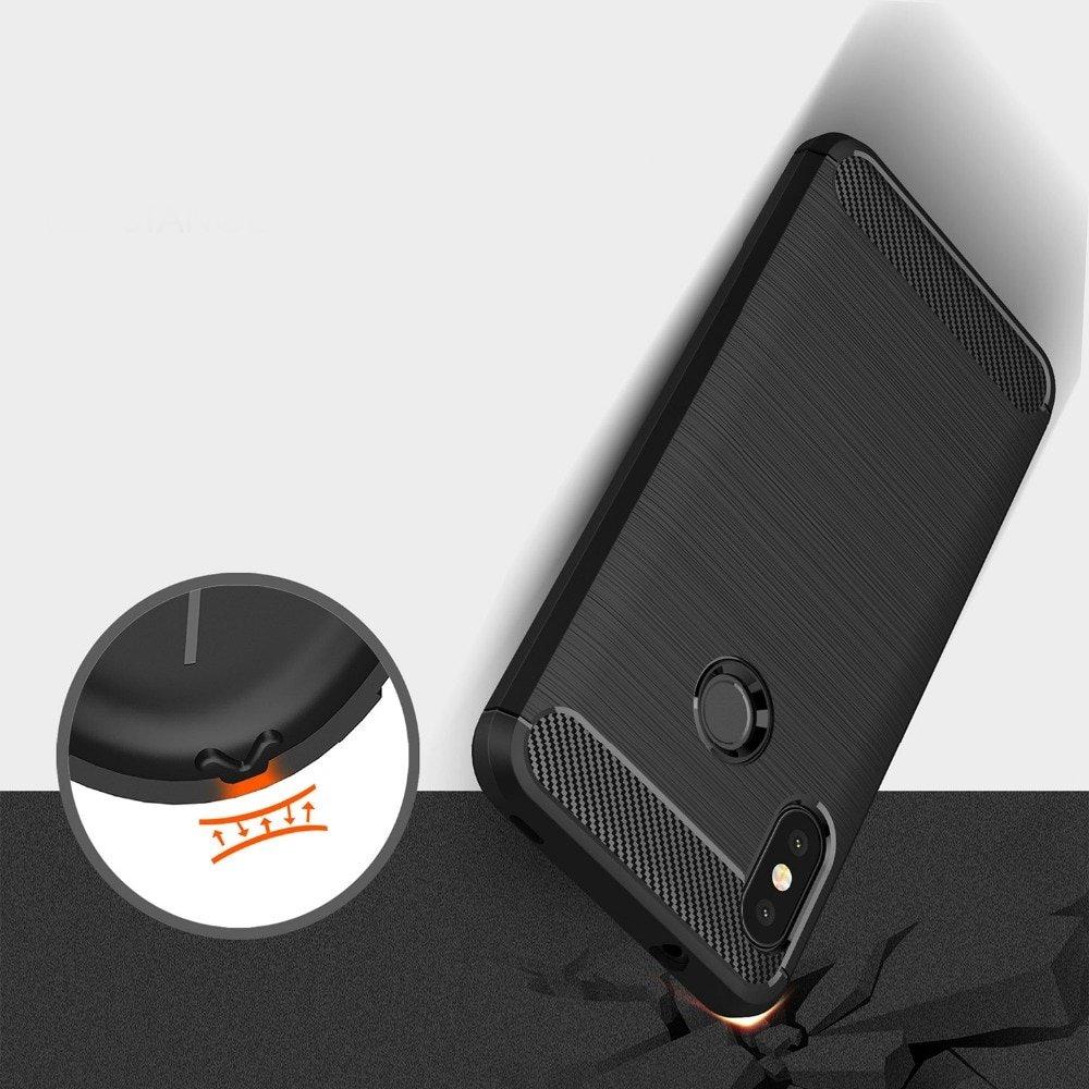 Carbon silikonové pouzdro pro Xiaomi Mi A2 Lite / Redmi 6 Pro red